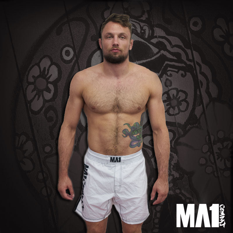 MA1 Combat Basic White MMA Shorts - Craig Jones