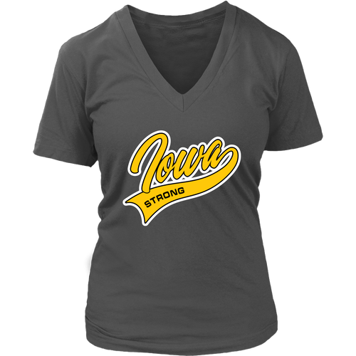 Iowa Strong V-Neck Shirt - Extended Sizes Available
