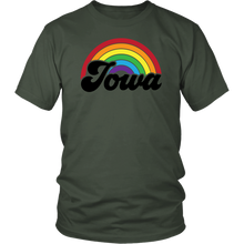 Load image into Gallery viewer, Iowa Rainbow Unisex Shirt - Extended Sizes Available