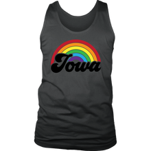 Load image into Gallery viewer, Iowa Rainbow Mens Tank - Extended Sizes Available