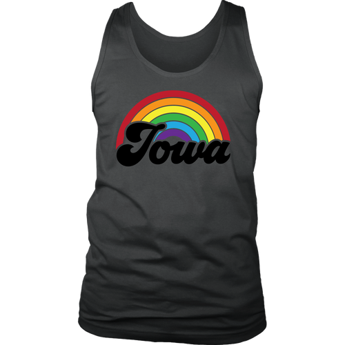 Iowa Rainbow Mens Tank - Extended Sizes Available