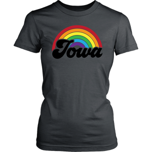 Iowa Rainbow Womens Shirt - Extended Sizes Available