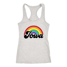 Load image into Gallery viewer, Iowa Rainbow Racerback Tank