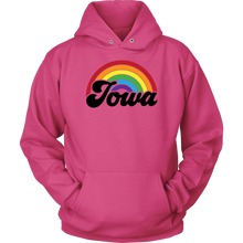 Load image into Gallery viewer, Iowa Rainbow Unisex Hoodie