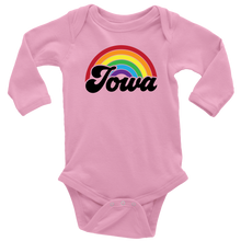 Load image into Gallery viewer, Iowa Rainbow Long Sleeve Baby Bodysuit