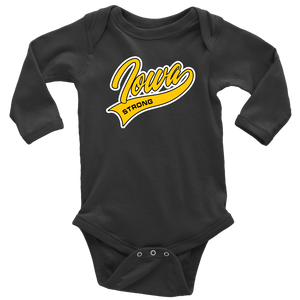 Iowa Strong Long Sleeve Baby Bodysuit