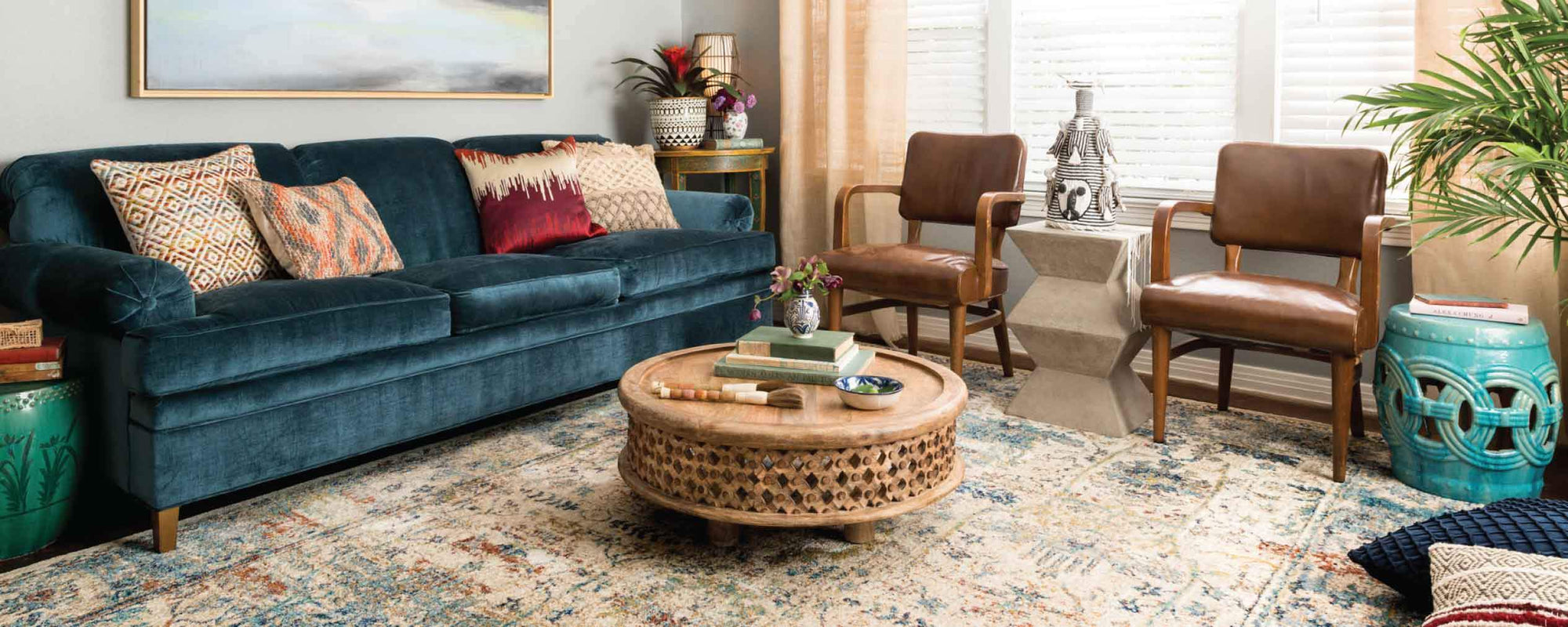 Bohemian Living Room Furniture