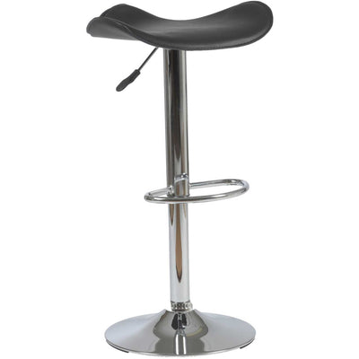 Fabian Barstool Black/Chrome