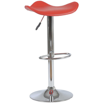 Fabian Barstool Red/Chrome
