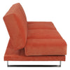 Shere Sofa Bed With Armrest Orange Fabric