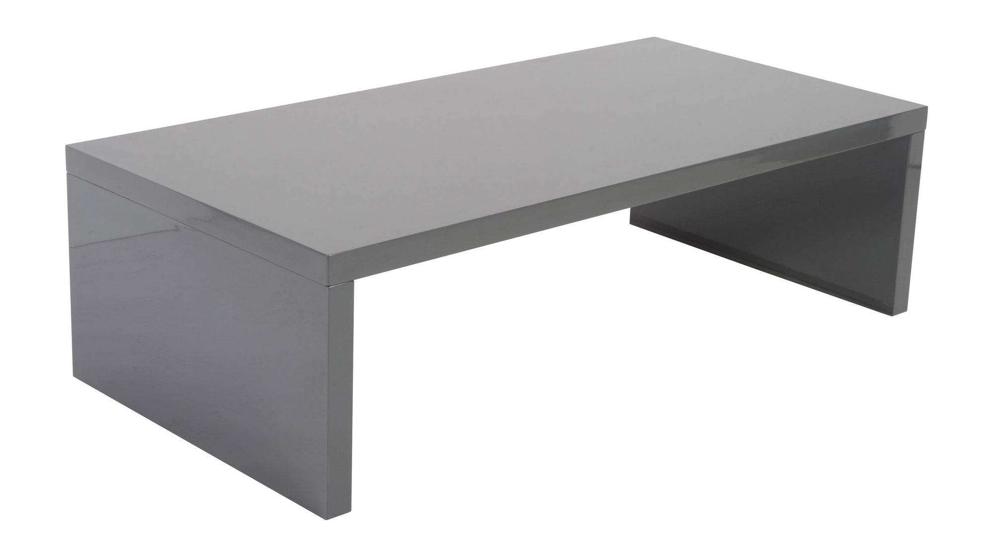 Able Coffee Table Gray Lacquer