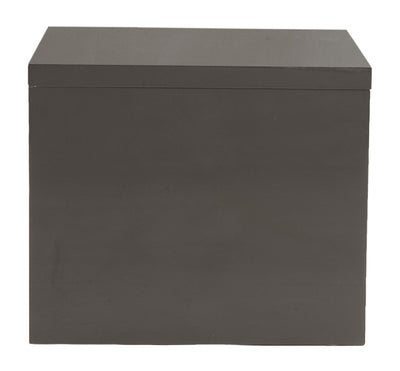Able Side Table Gray Lacquer