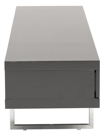 Mirabell Media Stand Gray Lacquer