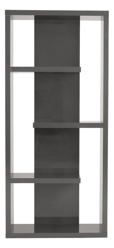Rogers Shelving Unit Gray Lacquer