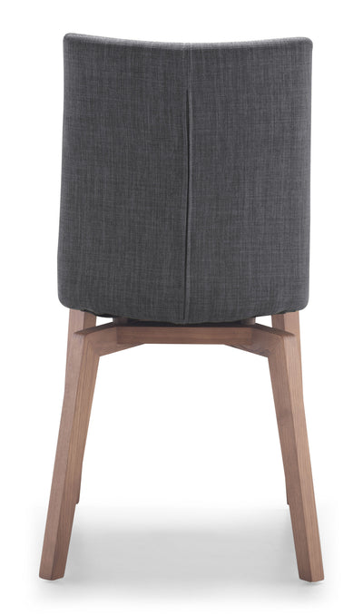 Omsk Chair Graphite Fabric (Set of 2)