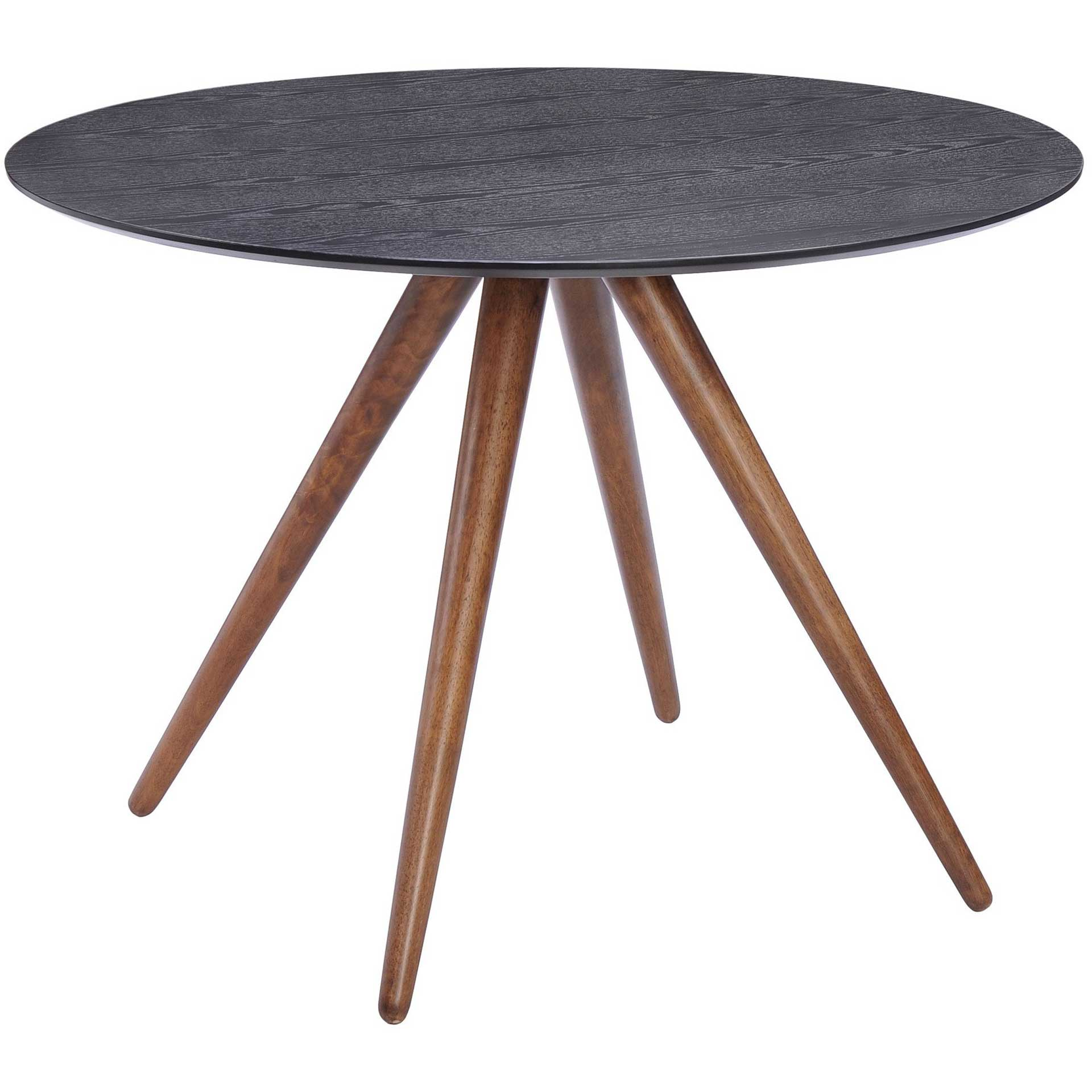 Grapeview Dining Table Walnut & Black