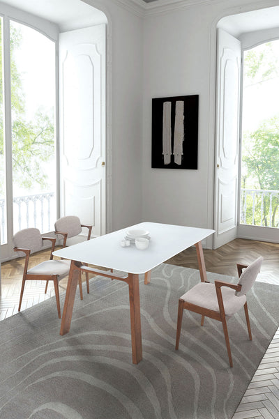 Cocoa Dining Table Walnut & White