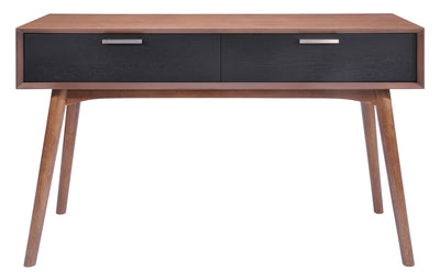 Liberty Bay Console Table Walnut & Black