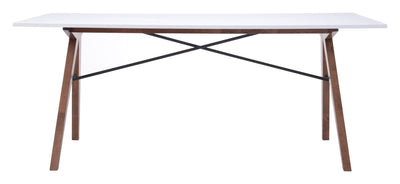 Spirit Dining Table Walnut & White