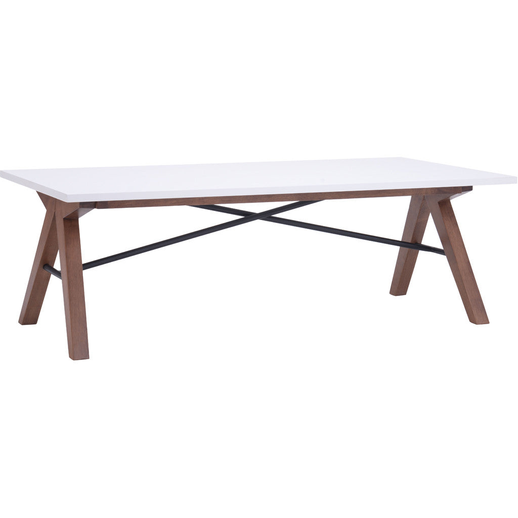 Spirit Coffee Table Walnut & White