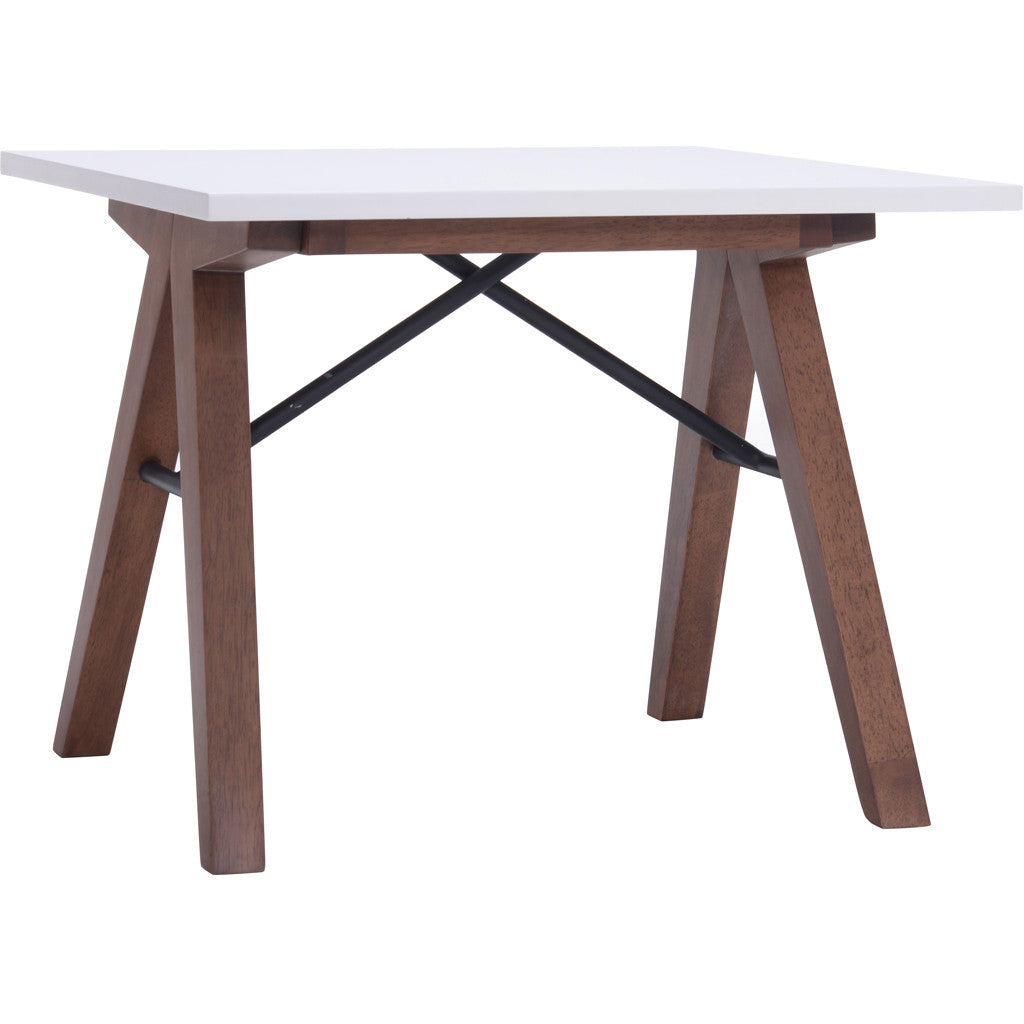Spirit Side Table Walnut & White