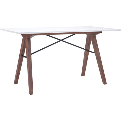 Spirit Desk Walnut & White