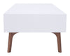 Proto Coffee Table Walnut & White