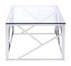 Candor Coffee Table Polished Stainless Steel