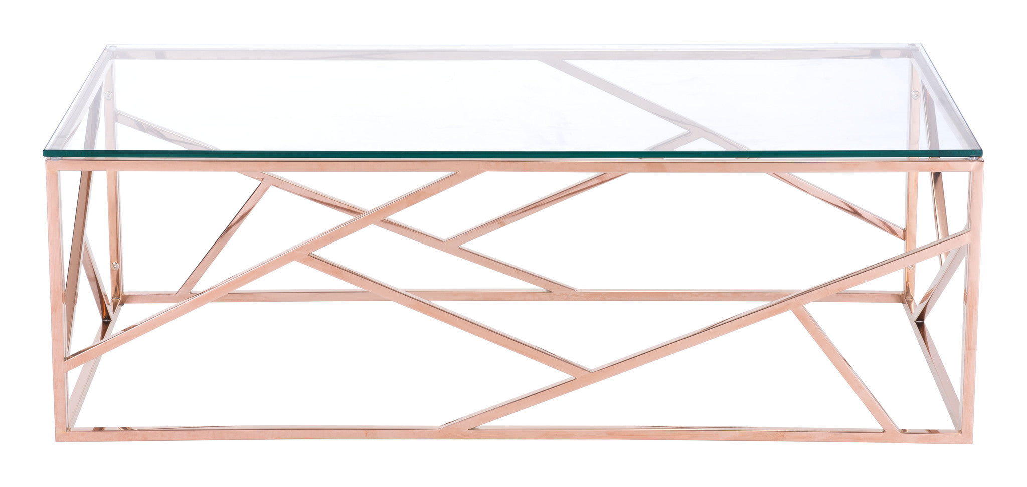 Candor Coffee Table Rose Gold Froy