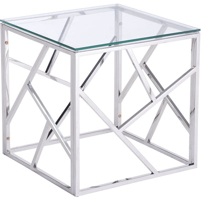 Candor Side Table Polished Stainless Steel