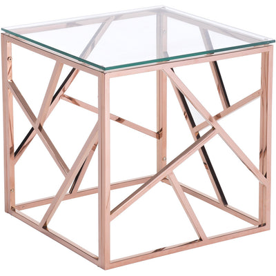 Candor Side Table Rose Gold
