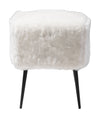 Furry Stool White