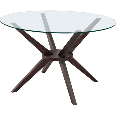 Courage Dining Table Dark Walnut