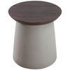 Hess Side Table Cement & Walnut