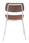 Clarity Dining Chair White & Walnut (Set of 4)