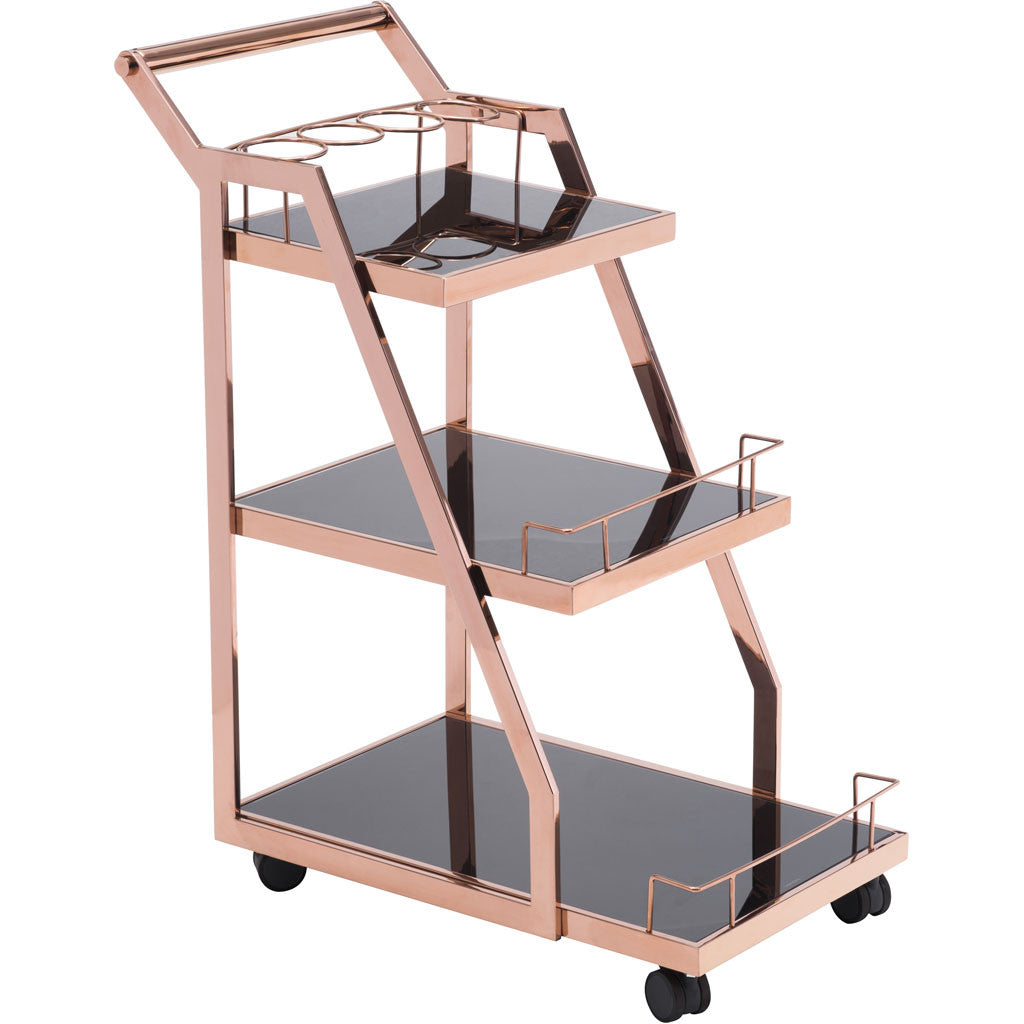 Alacrity Serving Cart Rose Gold