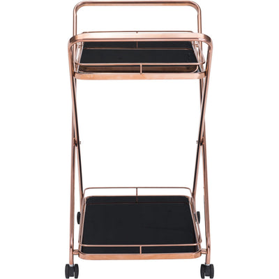 Vercelli Serving Cart Rose Gold