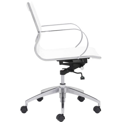 Graham Low Back Office Chair White