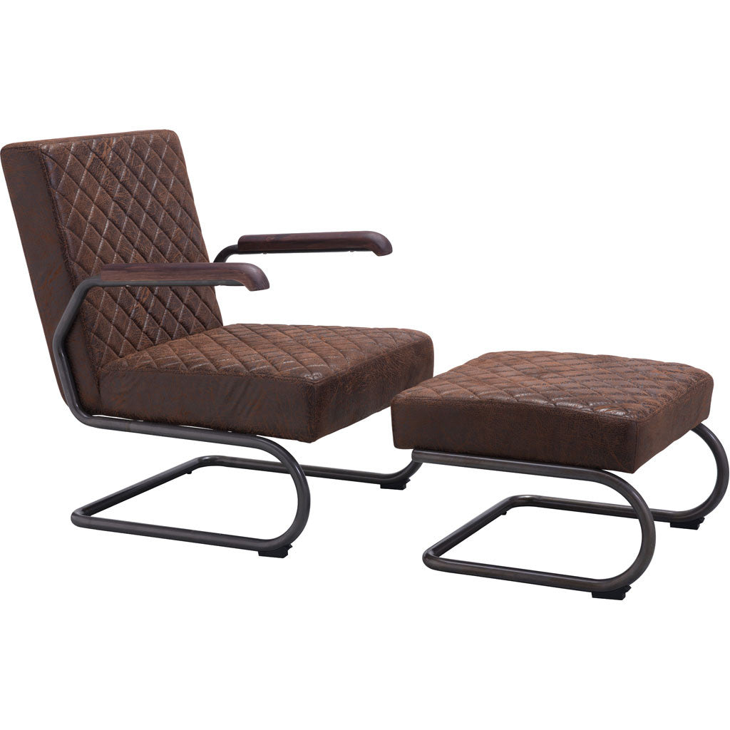 Fermo Lounge Chair Vintage Brown Froy Com
