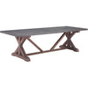 Dallas Dining Table Gray & Distressed Fir