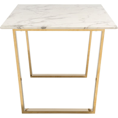 Acel Dining Table Stone & Gold