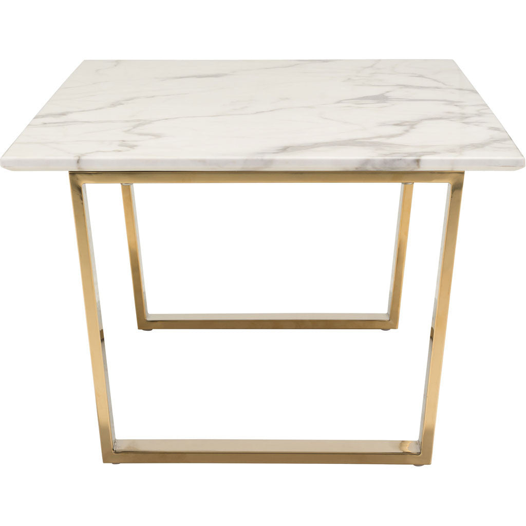 Acel Coffee Table Stone & Gold