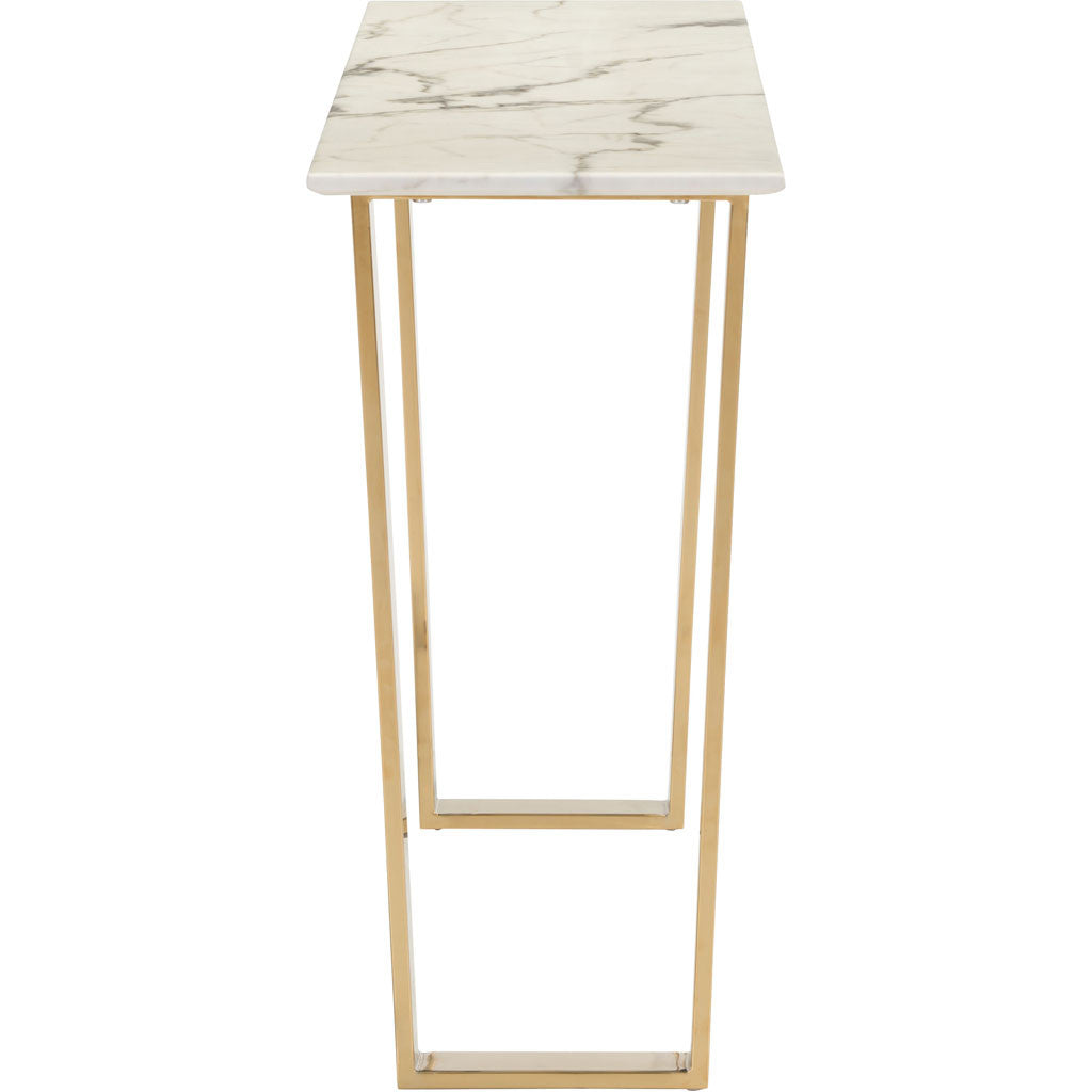 Acel Console Table Stone & Gold