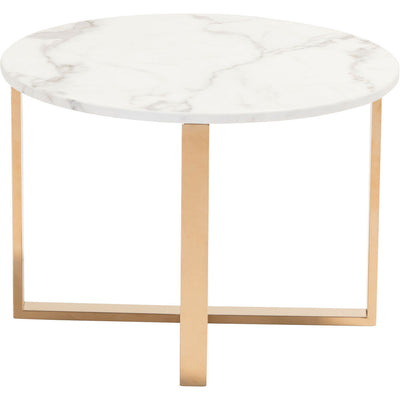 Global End Table Stone & Gold