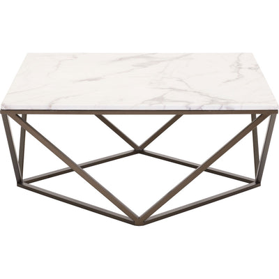 Titus Coffee Table Stone & Antique Brass