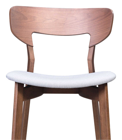 Reid Dining Arm Chair Walnut/Light Gray