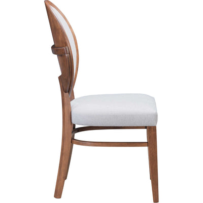 Russell Dining Chair Walnut/Light Gray