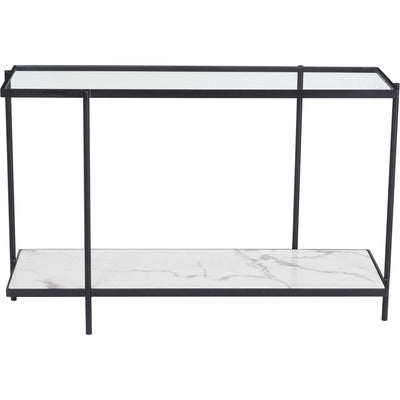 Watts Console Table Matte Black/Stone