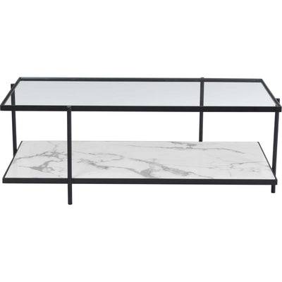 Watts Coffee Table Matte Black/Stone