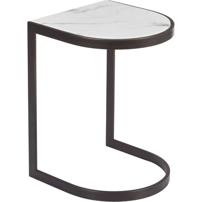 Shaw Nesting End Tables Black/Stone/Antique Brass